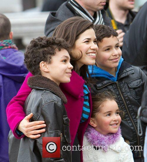 America Ferrera with young fans America Ferrera and...