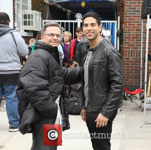 Tony Plana and Adam Rodriguez on location filming...