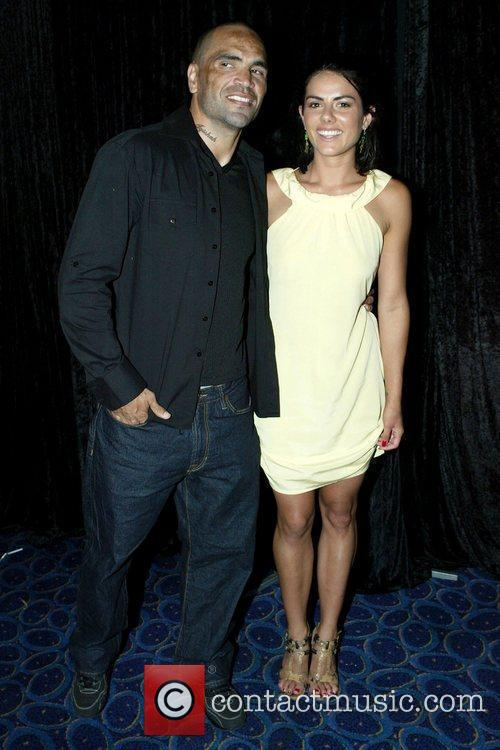 Anthony Mundine and Ashley Cheadle The premiere of...