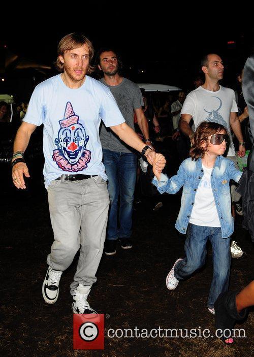 David Guetta backstage at the Ultra Music Festival...