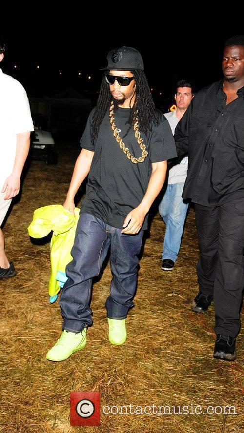 Lil Jon backstage at the Ultra Music Festival...