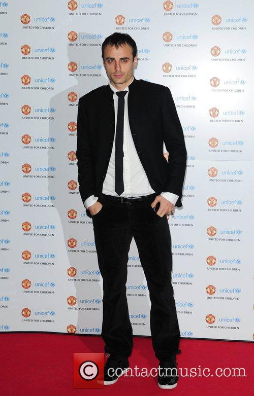 Dimitar Berbatov arrives at the Unicef Gala dinner...