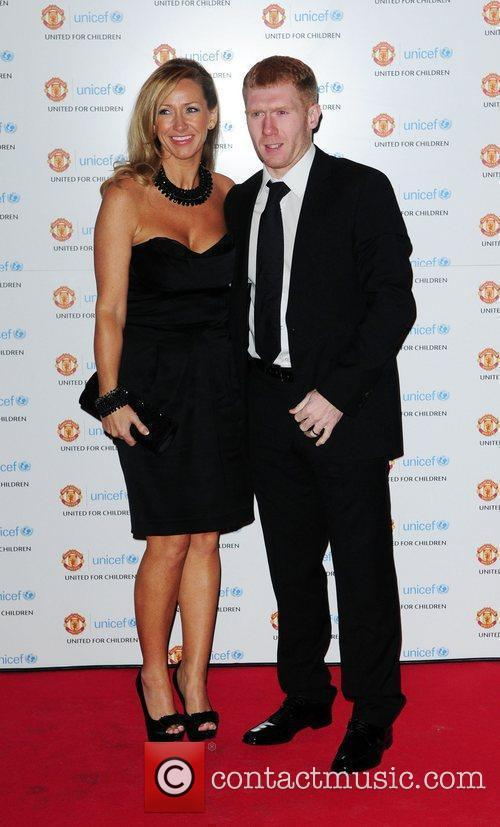 Unicef Picture 3118893 | Paul Scholes and his wife Claire Scholes ...