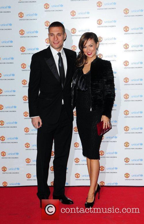 Nemanja Vidic and wife Ana UNICEF Dinner 2010...