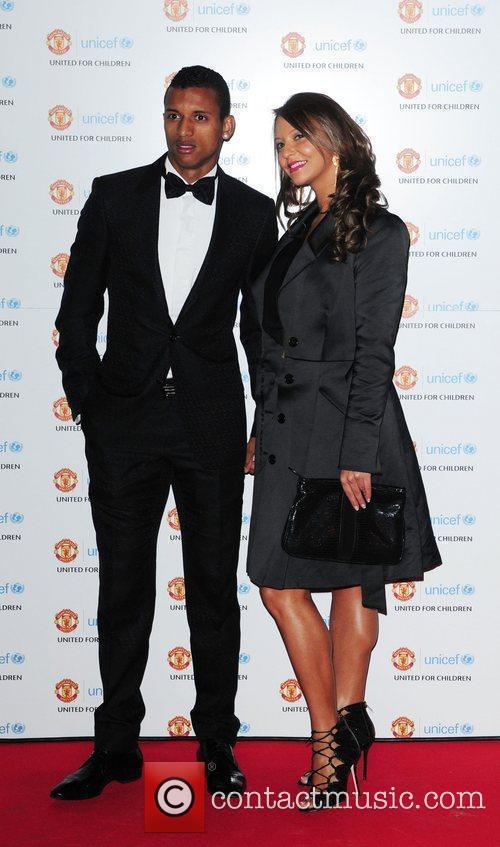 Nani and girlfriend Daniella Martin UNICEF Dinner 2010...