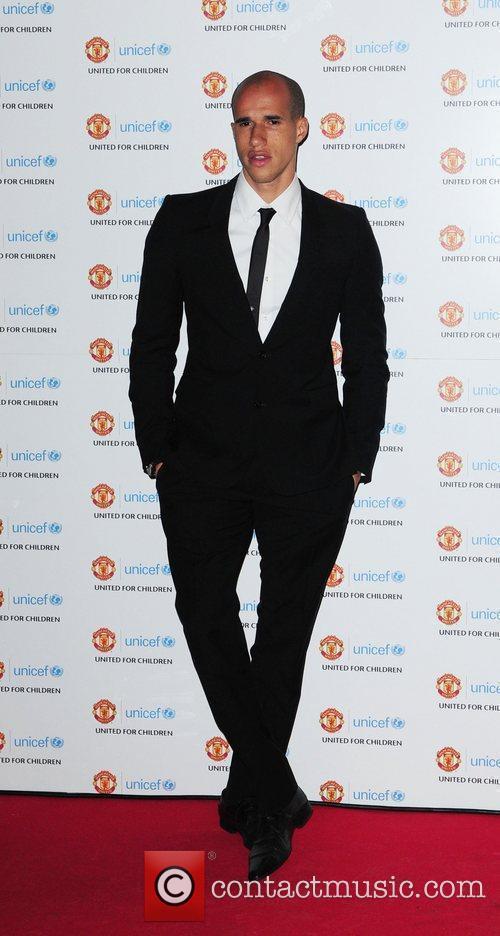 Gabriel Obertan UNICEF Dinner 2010 held at Manchester...