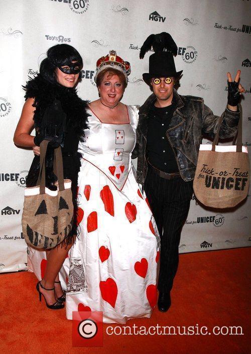 Lauren Bush, Caryl Stern and David Lauren...
