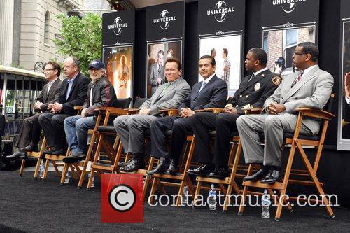 Arnold Schwarzenegger, Steven Spielberg, Antonio Villaraigosa, Chief Deputy...