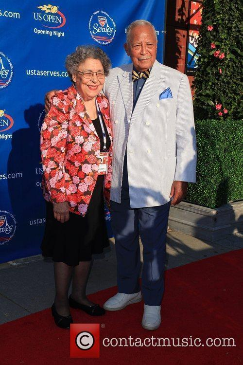 David Dinkins and Joyce Dinkins 2010 US Open...