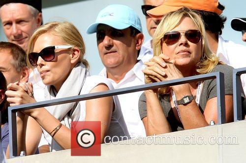 Charlize Theron Celebrities arrive to watch the men's...