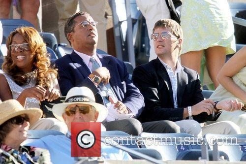 Star Jones, Guest and Rob Thomas Celebrities watching...