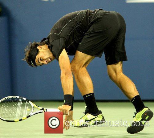 Celebrities watching the Rafael Nadal v Fernando Verdasco...