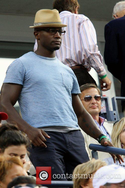 Taye Diggs Celebrities watching the men's semifinals match...