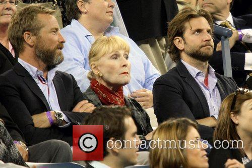 Bradley Cooper Celebrities watching the women's semifinals match...