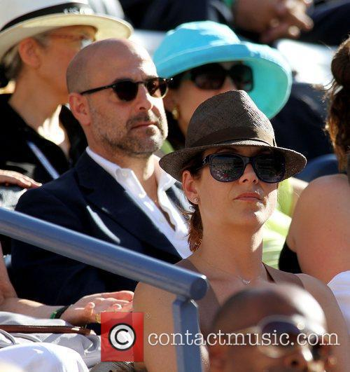 Kate Walsh and Stanley Tucci Celebrities watching the...