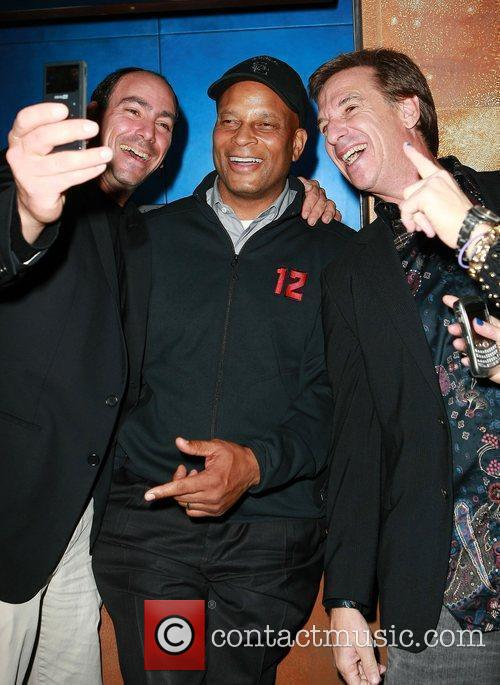 Ronnie Lott arriving to see Usher perform at...
