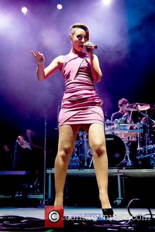 Amelle Berrabah of the Sugababes The V Festival...