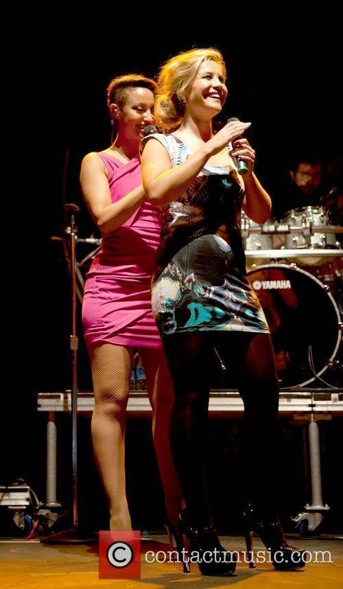 Amelle Berrabah and Heidi Range of the Sugababes...