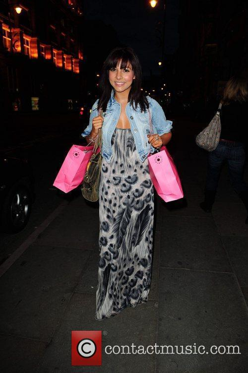Roxanne Pallett arrives at the Palace Theatre in...