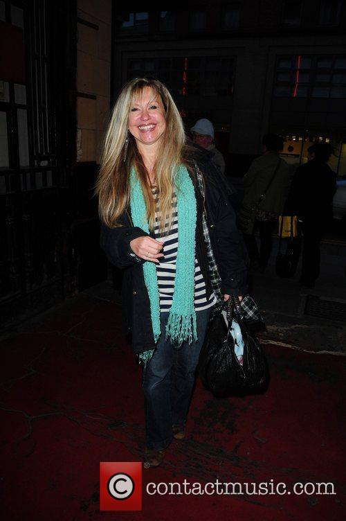 Sue Jenkins arrives at the Palace Theatre in...