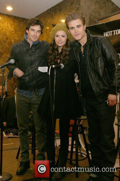 Ian Somerhalder, Nina Dobrev and Paul Wesley 2