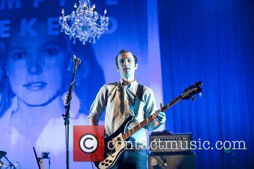 Chris Baio Vampire Weekend performing at Brixton Academy...