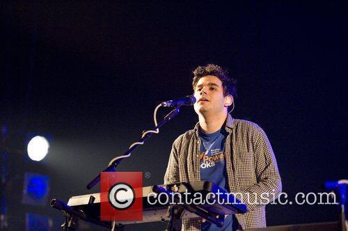 Rostam Batmangli Vampire Weekend performing at Brixton Academy...