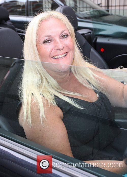 Vanessa Feltz  out and about driving in...