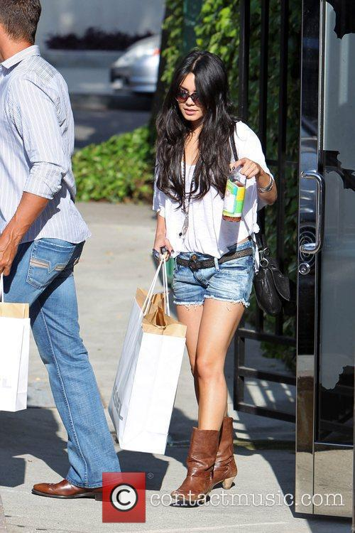 Vanessa hudgens  shopping at the Diesel clothes...