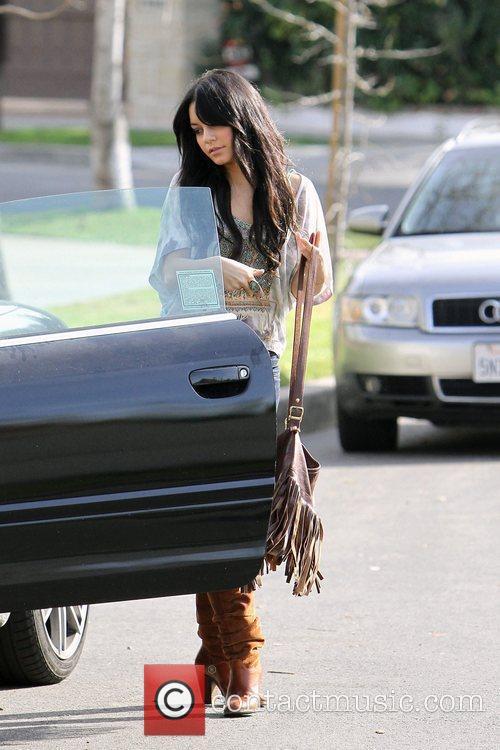 Vanessa Hudgens out running errands in Toluca Lake...