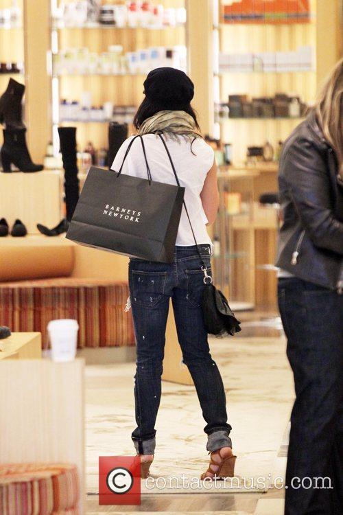 Vanessa Hudgens  shops for shoes at Barneys...