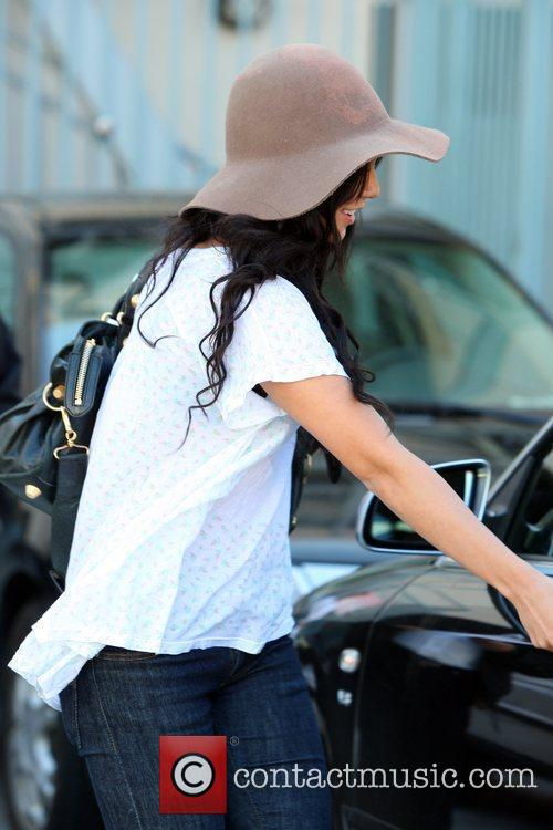 Leaves a Santa Monica residence after attending a...