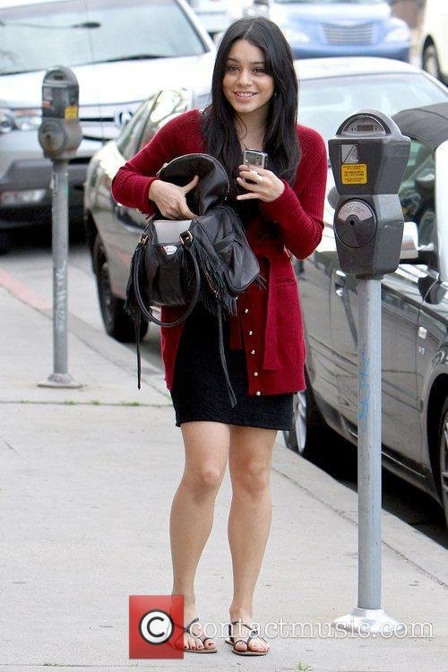 Vanessa Hudgens outside a furniture store in West...
