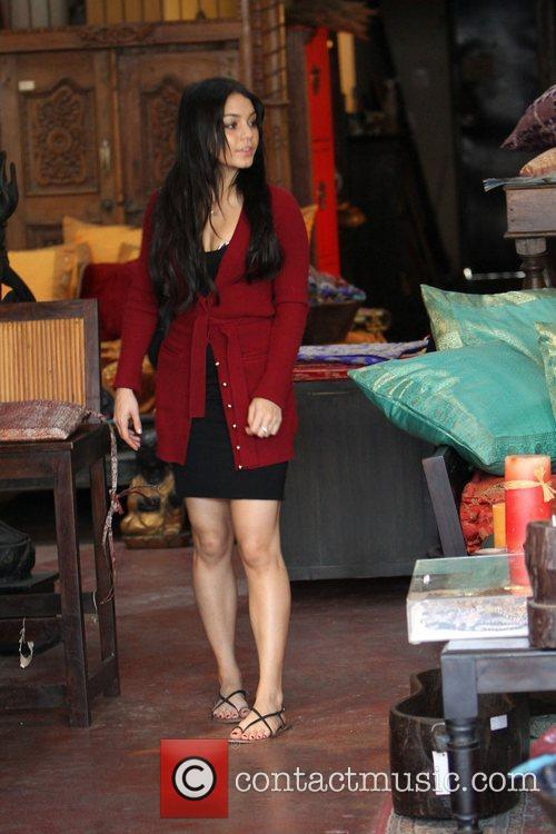 Vanessa Hudgens shopping at a furniture store in...