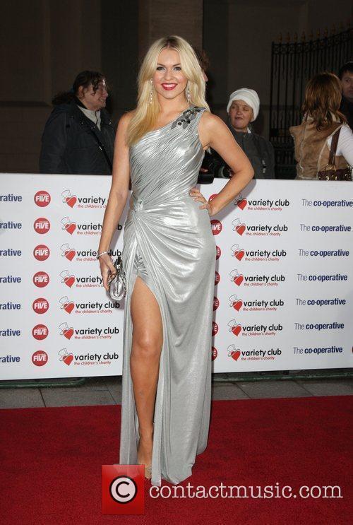Zoe Salmon The Variety Club Showbiz Awards 2010...