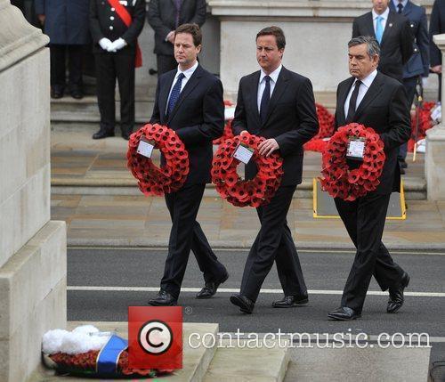 Nick Clegg, David Cameron and Gordon Brown Victory...