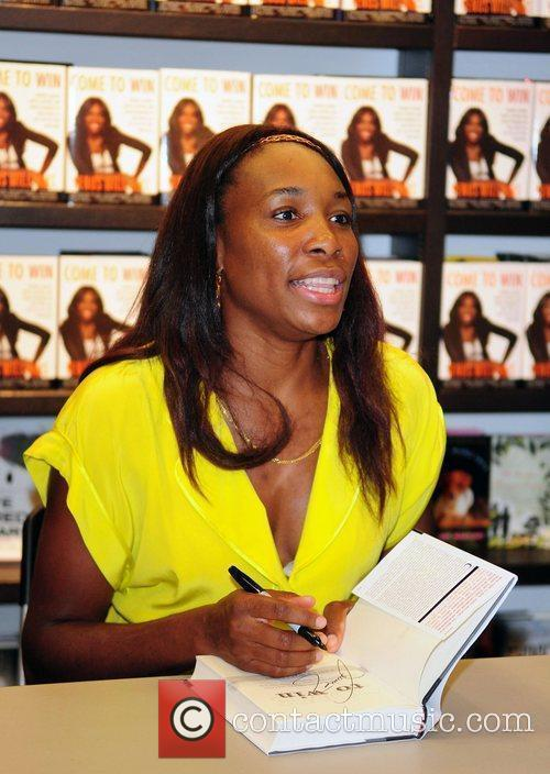 Venus Williams signs copies of her book 'Come...