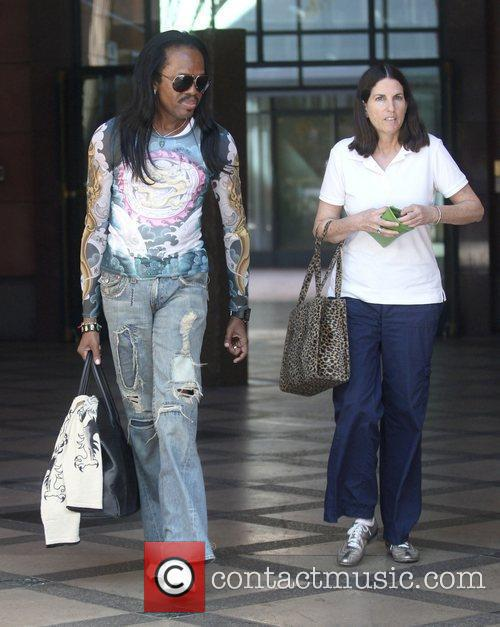 Verdine White leaves a medical building in Beverly...