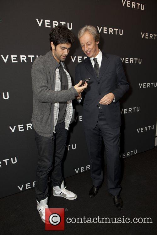 Adrian Grenier and Perry Oosting (President of Vertu)...