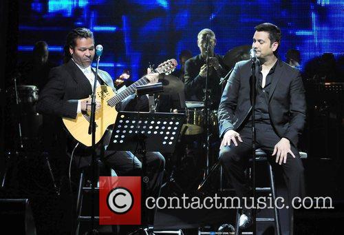 Amaury Gutierrez and Victor Manuel  performs on...