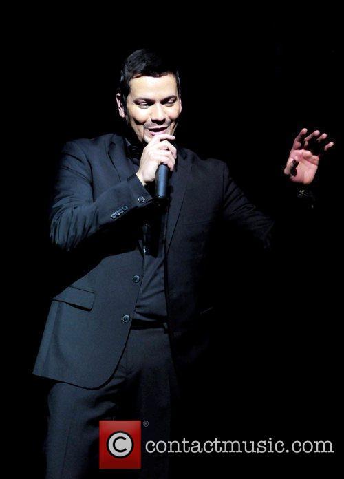 Singer Victor Manuel  performs on stage at...