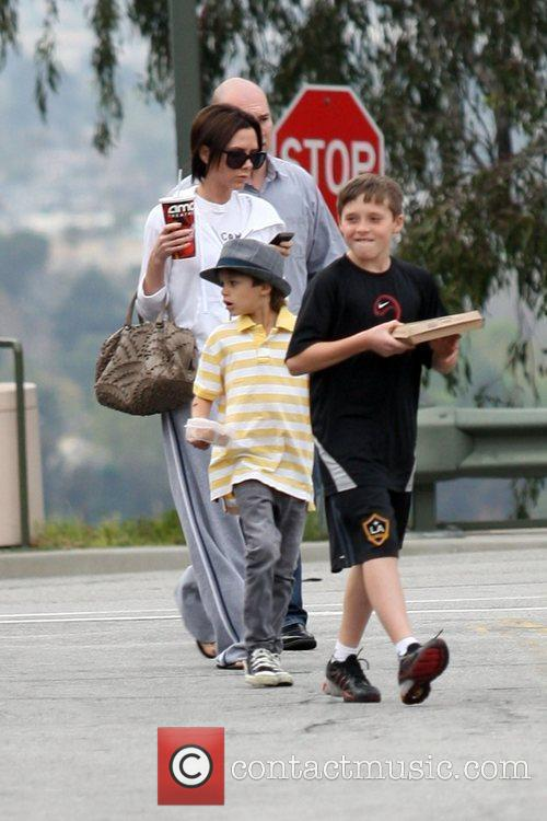 Victoria Beckham, Romeo and Brooklyn 8
