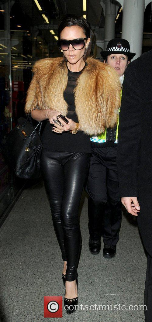 Arriving in London while wearing a see-through black...