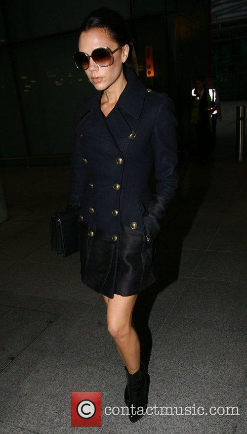 Victoria Beckham  arriving at Heathrow airport on...