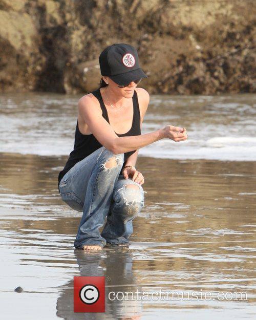Victoria Beckham on the beach Malibu, USA
