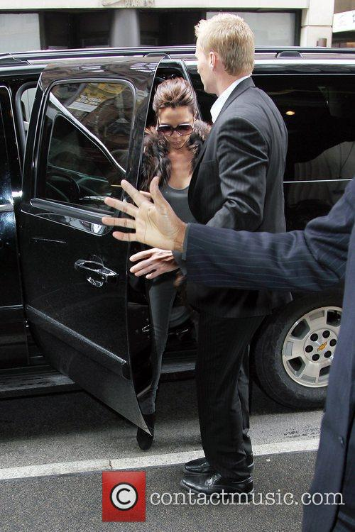 Victoria Beckham, Carrying A Rare Dark Red Crocodile Hermes Handbag and Arriving At Her Manhattan Hotel. 5