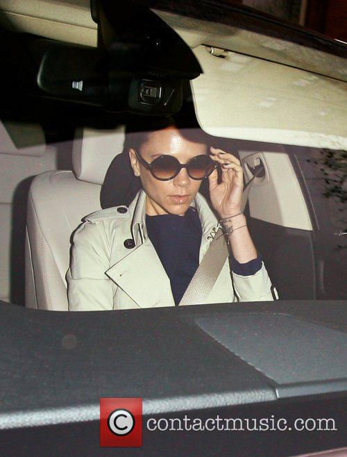 Victoria Beckham leaving her hotel this morning London,...