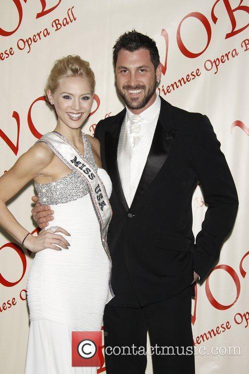 Miss USA 2009 Kristen Dalton and Maksim Chmerkovskiy...