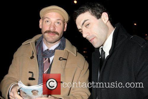 Corey Stoll and Morgan Spector Opening night of...