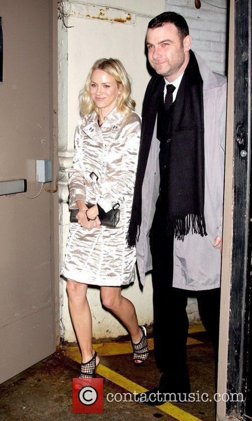 Naomi Watts and Liev Schreiber Opening night of...